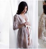 How can you make a maternity gown for a photoshoot?